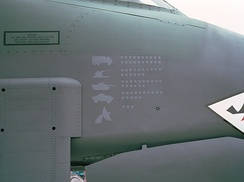 USAF A-10A showing kill markings from Operation Desert Storm, 1991