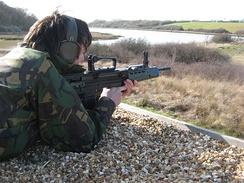 A Cadet Fires the L98A1 GP Rifle