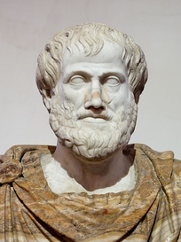 A marble bust of Aristotle