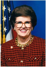 Barbara Vucanovich the first Latina elected to the United States House of Representatives, in which she served representing Nevada