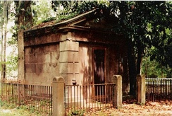 The Baynard Mausoleum, built in 1846, is the oldest intact structure on the island.