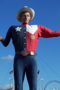 Big Tex presided over every Texas State Fair since 1952 until it was destroyed by a fire in 2012.