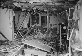 The conference room after the bomb exploded
