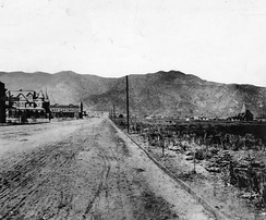 Olive Avenue in Burbank, 1889