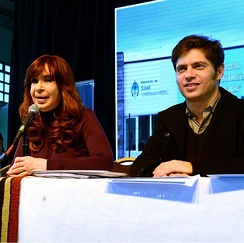 Fernández de Kirchner with minister of economy Axel Kicillof