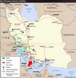 Iran holds 10% of the world's proven oil reserves and 15% of its gas. It is OPEC's second largest exporter and the world's 7th largest oil producer.[350]