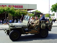 Jeep with 50 cal. Browning machine gun