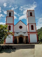 St Michael's Cathedral on Mangareva island