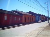 "Houses in Chanco Town, in the ""Typical Zone""."