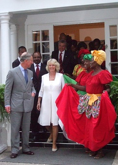 The Prince of Wales and the Duchess of Cornwall in Jamaica, March 2008
