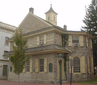 The Chester Courthouse was built in 1724 and is the oldest existing public building in the United States.