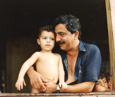 Chico Mendes with his son, Sandino