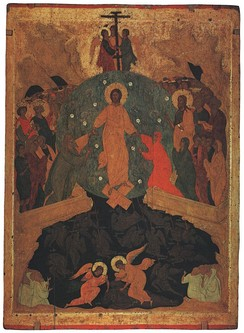 Harrowing of Hades, an icon by Dionisius, from the Ferapontov Monastery.