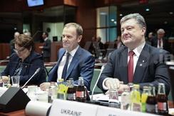President of the European Council Donald Tusk and Petro Poroshenko in Brussels, June 2015
