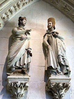 King Ferdinand and his wife, Elizabeth, depicted in the Burgos Cathedral
