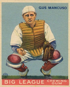 Mancuso with the Giants (c. 1933)