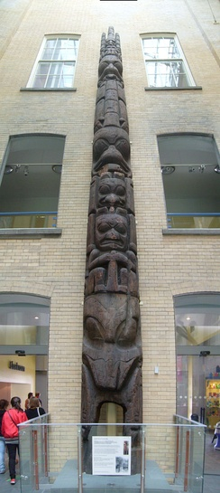 Totem pole in World Museum, Liverpool