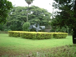 The Tree of Knowledge – a wrought iron sculpture in the lawns facing the Administrative Building at IIT Bombay