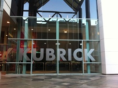 Entrance to Kubrick museum exhibit at LACMA