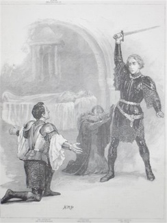 King Arthur at the theatre, 1895