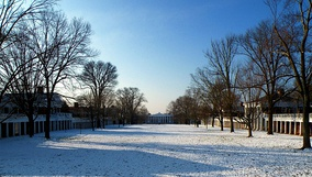 Winter view toward the South Lawn