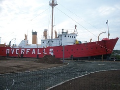 Lightship Overfalls, preserved as a tourist attraction.