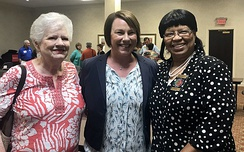 US Representative Martha Roby (center) with Kiwanis members in Ozark, Alabama