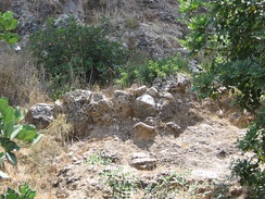 Remains of a wall of a Natufian house
