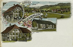 Postcard of Niedermuhlern, about 1900