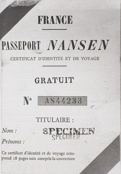Nansen passport for refugees (now defunct)