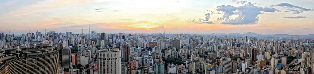 Panoramic view of Central Zone of São Paulo from Italy Building
