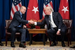 President Donald Trump and President Recep Tayyip Erdoğan of Turkey in October 2017