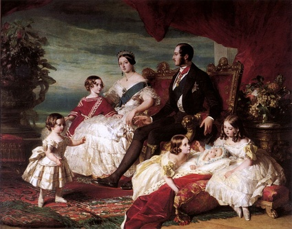 Queen Victoria, Prince Albert, and their children as idealized family