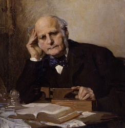Sir Francis Galton by Charles Wellington Furse, given to the National Portrait Gallery, London in 1954