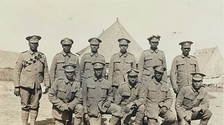 Soldiers of the Bermuda Contingent of the Royal Garrison Artillery in a Casualty Clearing Station in July, 1916