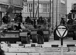 The U.S. Army deployed a tripwire force to Berlin during the Cold War to deter the Soviet Union, whose tanks are pictured here during the Berlin Crisis of 1961.