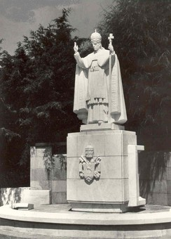 "Fátima Statue of Pope Pius XII, who consecrated Russia and the World: ""Just as a few years ago We consecrated the entire human race to the Immaculate Heart of the Virgin Mary, Mother of God, so today We consecrate and in a most special manner We entrust all the peoples of Russia to this Immaculate Heart..."""