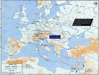 Strategic overview of operations in Europe and the Mediterranean in 1798–1799