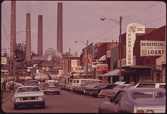 7th Avenue looking NE, South Charleston, in 1973