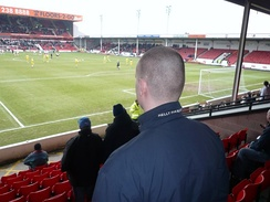 Away fans at Walsall F.C.'s Bescot Stadium.