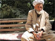 Узбекский старик в национальной одежде