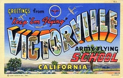 1943 Postcard from Victorville Army Airfield California