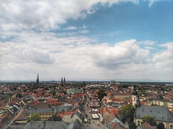 View of Speyer from its cathedral