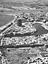 Aerial view of Bizerte in 1959