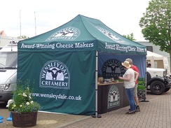 A Wensleydale Creamery stall at a 2014 Test match