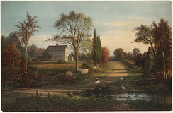 Whittier's Birthplace, by Thomas Hill.