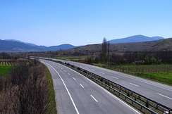 European route E75 in North Macedonia