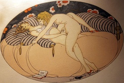 "Gerda Wegener's 1925 artwork ""Les delassements d'Eros"" (""The recreations of Eros""), which depicts sexual activity by two women"