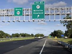 Route 55 southbound in Millville