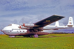 Armstrong Whitworth Argosy C.1 of 70 Squadron RAF named Horatius in 1971